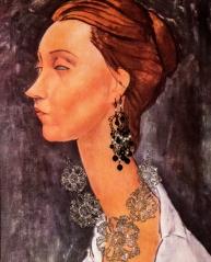 Modigliani mit Schmuck